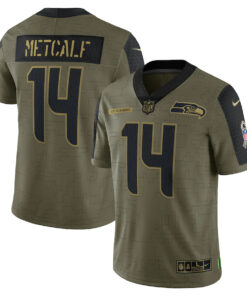 DK Metcalf Nike Olive 2021 Salute To Service